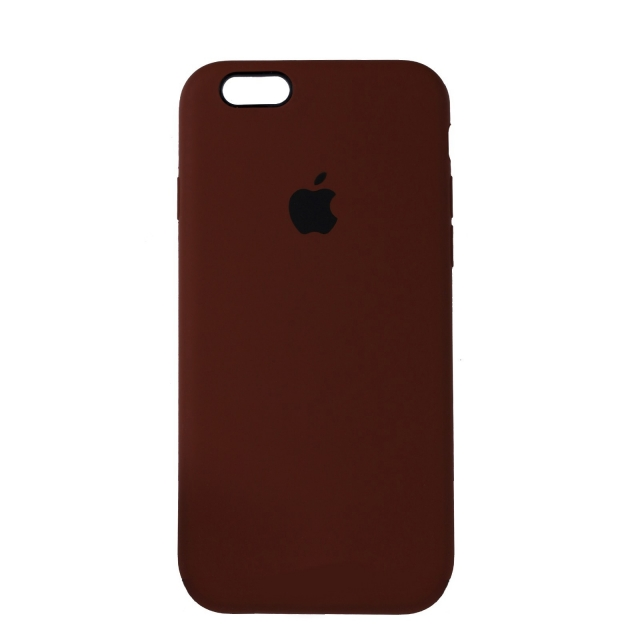 Чехол Silicone Case Full Cover iPhone 6/6S Copy Brown (57)