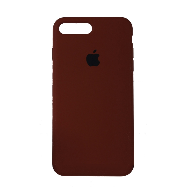 Чехол Silicone Case Full Cover iPhone 7/8 Plus Copy Brown (57)