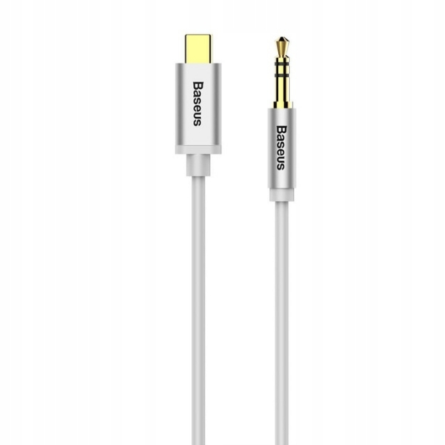 Кабель Baseus Yiven Type-C male To 3.5 male Audio Cable M01 Silver+Black
