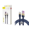 Кабель Baseus Cafule HW Quick Charging Data cable For Type-C 40W 1m Gold Blue