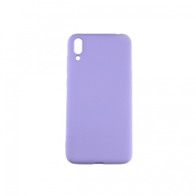 Чехол Silicone Case Full Cover Huawei Y7 Pro Лавандовый