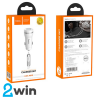 Зарядка для авто Z27 Staunch dual port in-car charger set with Micro 2USB 2.4A White