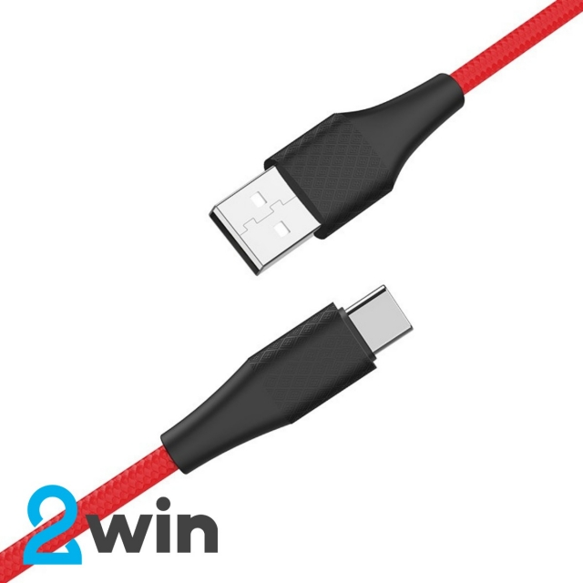 Кабель Hoco X32 Excellent charging data cable for Type-C Red