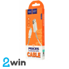 Кабель Hoco X24 Pisces charging data cable for Lightning White