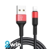 Кабель Hoco X26 Xpress charging data cable for Lightning Black&Red