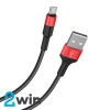 Кабель Hoco X26 Xpress charging data cable for Micro Black&Red