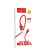 Кабель Hoco  U55 Outstanding charging data cable for Lightning Red