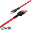 Кабель Hoco X34 Surpass charging data cable for Lightning Red