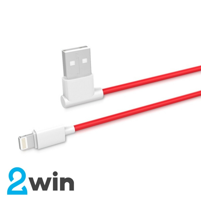 Кабель Hoco  UPL11 L shape changing cable for Lightning Red