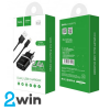 СЗУ C12 Smart dual USB charger set with Lightning cable(EU) 2USB 2.4A Black