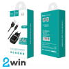 СЗУ C12 Smart dual USB charger set with Micro cable(EU) 2USB 2.4A Black