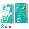 СЗУ C41A Wisdom Dual Port Charger set with Type-C cable(EU) 2USB 2.4A White